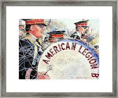 American Legion Framed Print by Carolyn Coffey Wallace