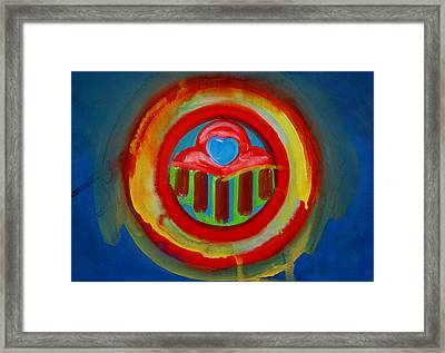 Framed Print featuring the painting American Love Button by Charles Stuart