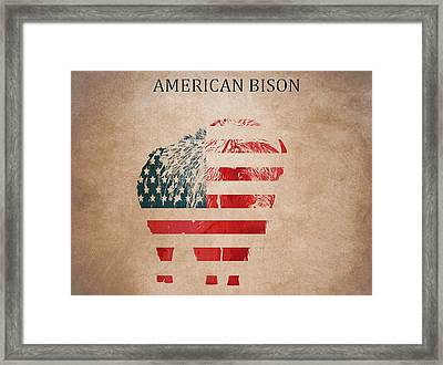 American Mammal The Bison Framed Print by Dan Sproul