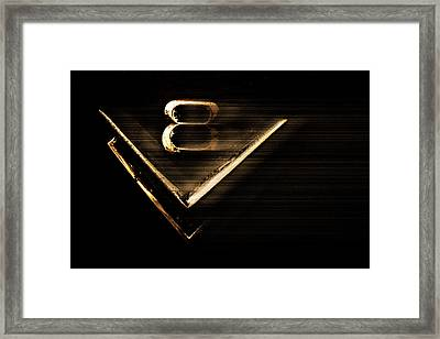 Framed Print featuring the photograph American Muscle V8 by Gray  Artus