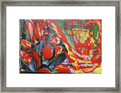 American Mussels With Catsup Framed Print by Bruce Combs - REACH BEYOND