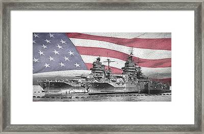 Framed Print featuring the digital art American Naval Power by JC Findley