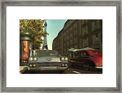 American  Oldtimers In Paris Framed Print