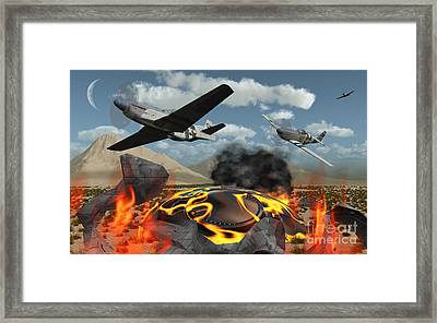 American P-51 Mustang Fighter Planes Framed Print by Mark Stevenson