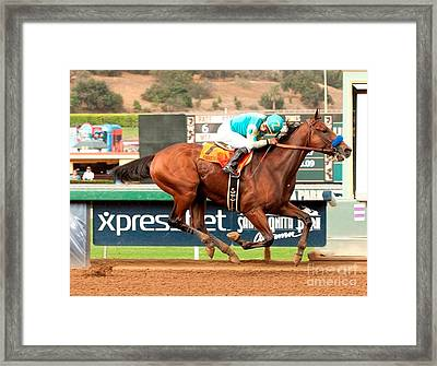 American Pharoah Race Horse Triple Crown Winner Framed Print