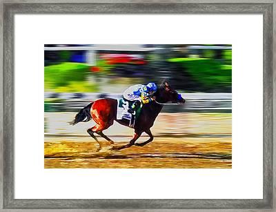 American Pharoah Framed Print by Rick Mosher