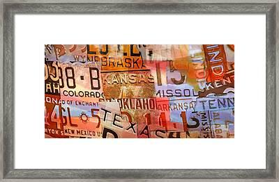 American Plates Framed Print by Lutz Baar