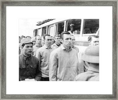 American Pows In Hanoi Framed Print