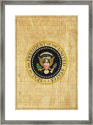 American Presidents Framed Print by Andrew Fare