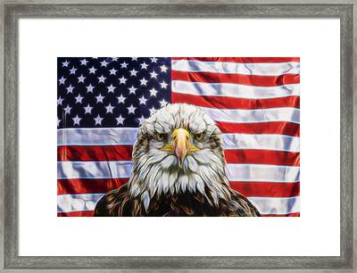 Framed Print featuring the photograph American Pride by Scott Carruthers