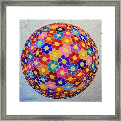 American Quilt Flower Ball Framed Print