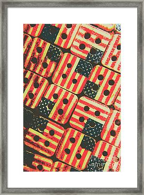 American Quilting Background Framed Print