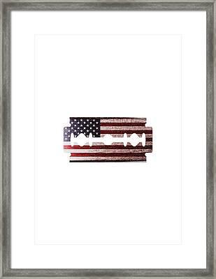 American Razor Framed Print