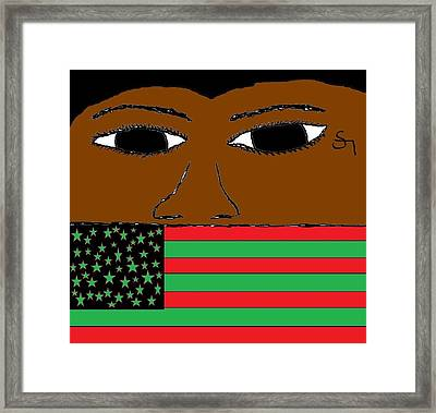 American Rebel Framed Print by Sha Kimono