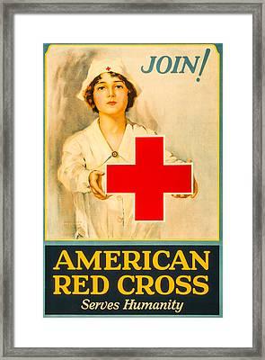 American Red Cross Nurse Framed Print by David Letts