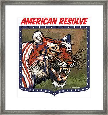 American Resolve Framed Print