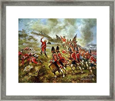 American Revolution, Battle Of Bunker Framed Print by Science Source
