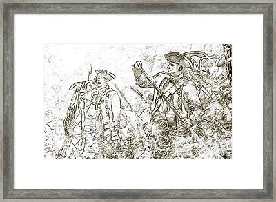 American Revolution Battle Sketch Framed Print by Randy Steele