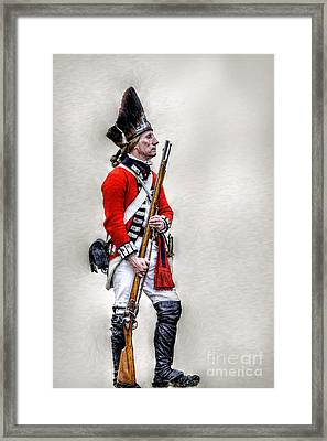 American Revolution British Soldier  Framed Print by Randy Steele