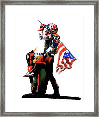 American Revolution Four Nicky Hayden Framed Print