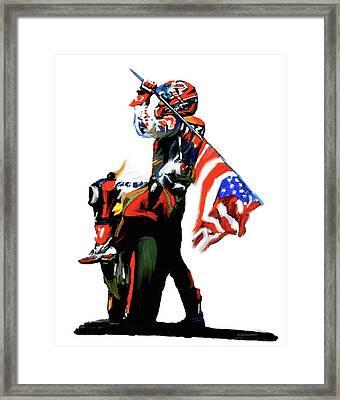 American Revolution Four Nicky Hayden Framed Print