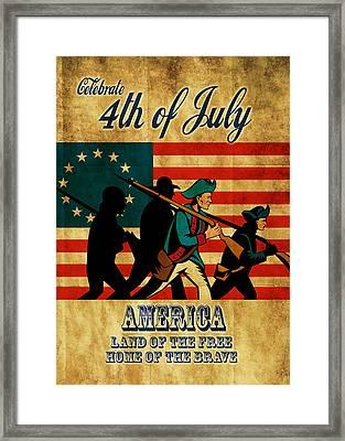 American Revolution Soldier Vintage Framed Print by Aloysius Patrimonio