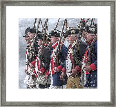 American Revolutionary War Soldiers Framed Print by Randy Steele