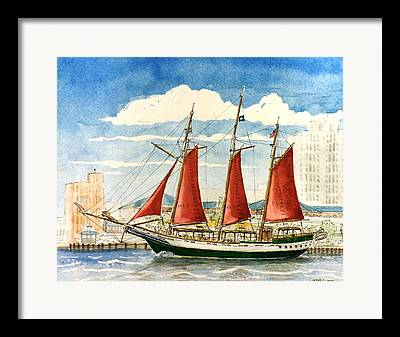 Schooner Framed Prints