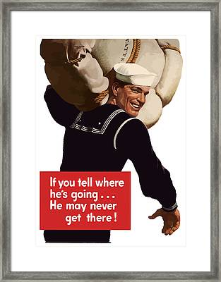 American Sailor -- Ww2 Propaganda Framed Print by War Is Hell Store