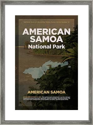 American Samoa National Park Travel Poster Series Of National Parks Number 16 Framed Print