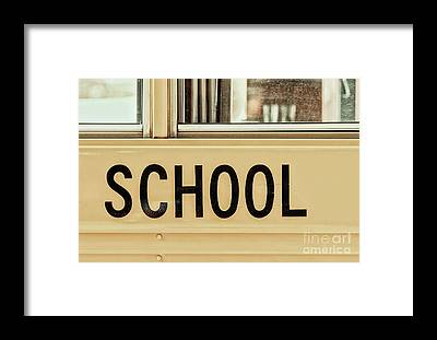 School Buses Framed Prints
