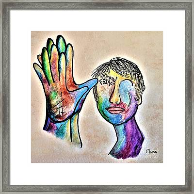 American Sign Language Grandfather Framed Print by Eloise Schneider