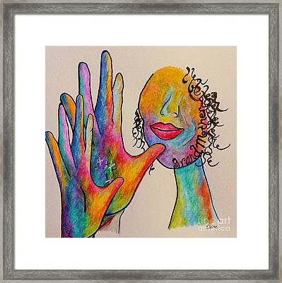 American Sign Language Grandmother Framed Print by Eloise Schneider