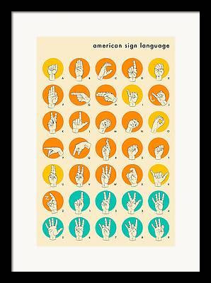 Language Framed Prints