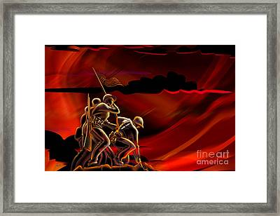 American Soldiers Framed Print by Bedros Awak
