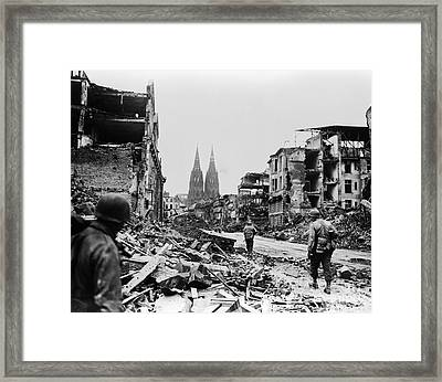 American Soldiers In Cologne, Germany Framed Print by H. Armstrong Roberts/ClassicStock