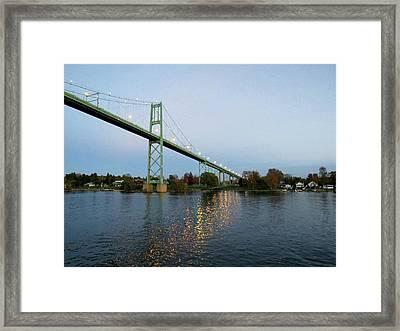 American Span Thousand Islands Bridge Framed Print