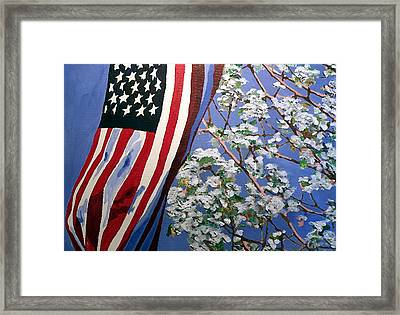 Framed Print featuring the painting American Spring by Jim Phillips