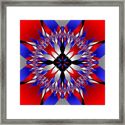 American Starburst Mandala Framed Print