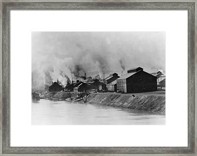 American Steel And Wire Plant Framed Print by Everett
