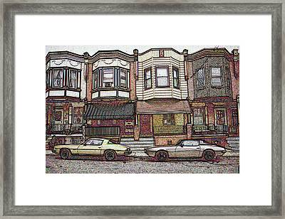 American City Street Architecture Framed Print by Art America Online Gallery