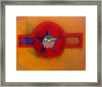 Framed Print featuring the painting American Sub Decal by Charles Stuart