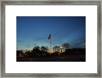 American Sunset Framed Print