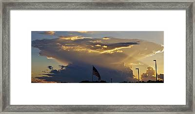 American Supercell Framed Print by Ed Sweeney