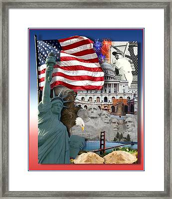 American Symbolicism Framed Print by Gravityx9  Designs
