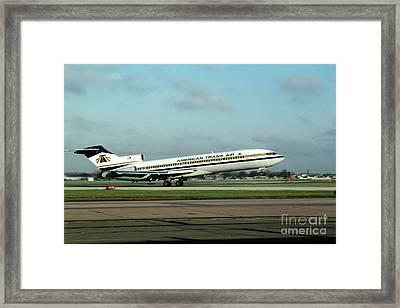 American Trans Air Boeing 727 Taking-off Framed Print by Wernher Krutein