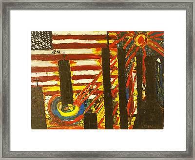 9/11 Memorial #2 Framed Print