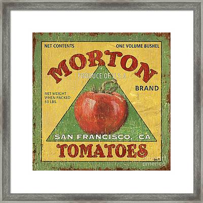 American Veggies 2 Framed Print