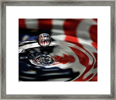 Framed Print featuring the photograph American Water Drop by Betty Denise