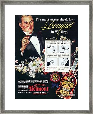 American Whiskey Ad, 1938 Framed Print by Granger